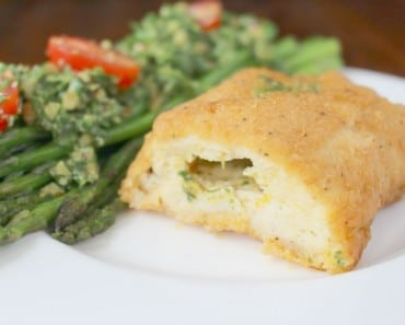 Sauteed Asparagus, Arugula Pesto, Barber Foods Chicken Kiev