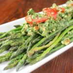 Sauteed Asparagus and Arugula Pesto