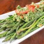 Sauteed Asparagus and Arugula Pesto