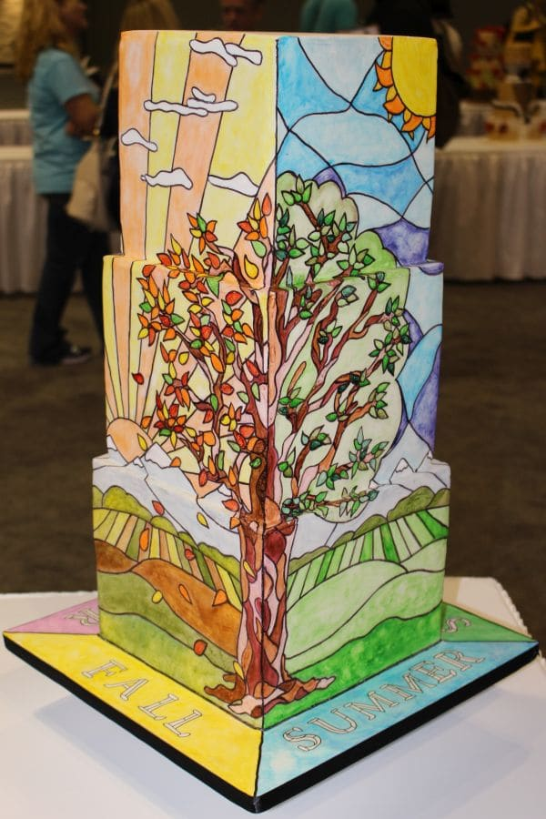 Stained glass Tiffany cake