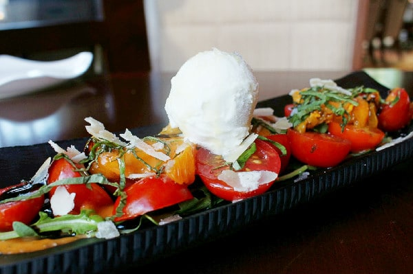 Tomato Salad with Sorbet at Urban Tide Restaurant