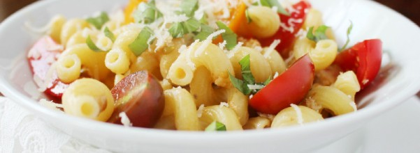 Tuna Pasta with Fresh Tomatoes and Parmesan