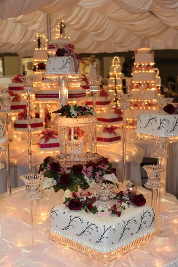 Wedding Cakes with Lights