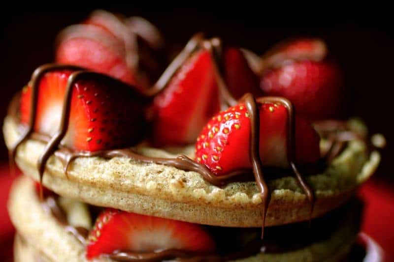 Best Waffle Recipe with Strawberries