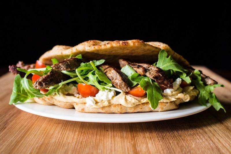Naanwich Steak Wrap Recipe