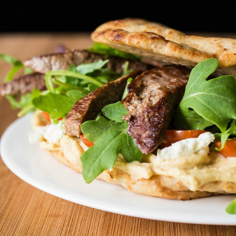Naanwich Steak Wrap with Whole Wheat Naan