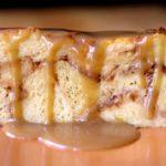 Pumpkin Bread Pudding Slice