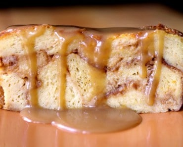 Pumpkin Bread Pudding Slice