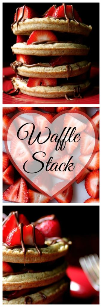 Chocolate Strawberry Waffle Stack