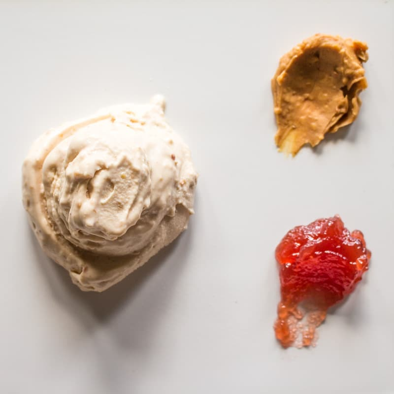 Creamy Crunchy Peanut Butter and Jelly Ice Cream