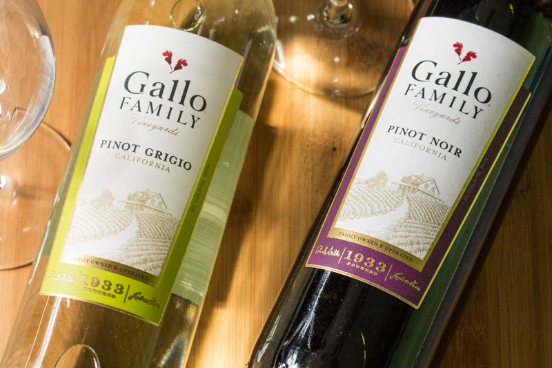Gallo Pinot Grigio and Pinot Noir