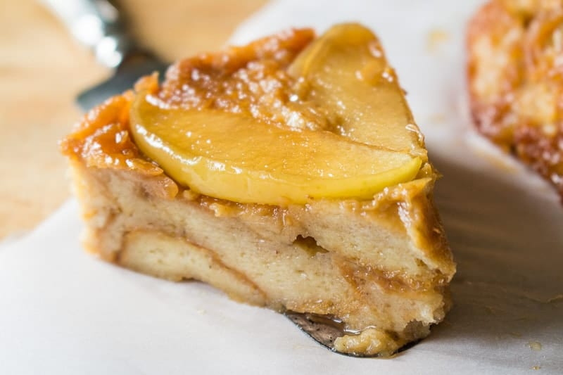 Apple Bread Pudding Slice