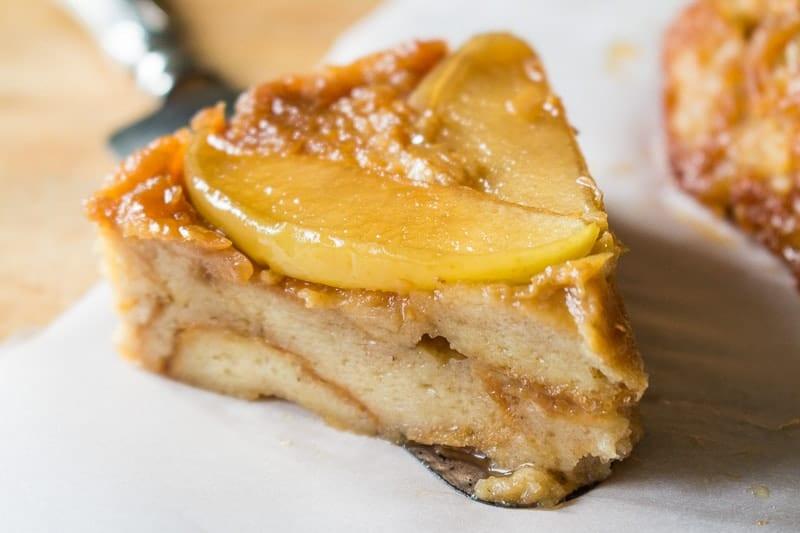 Apple Bread Pudding Slice
