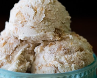 Apple Pie Ice Cream Closeup