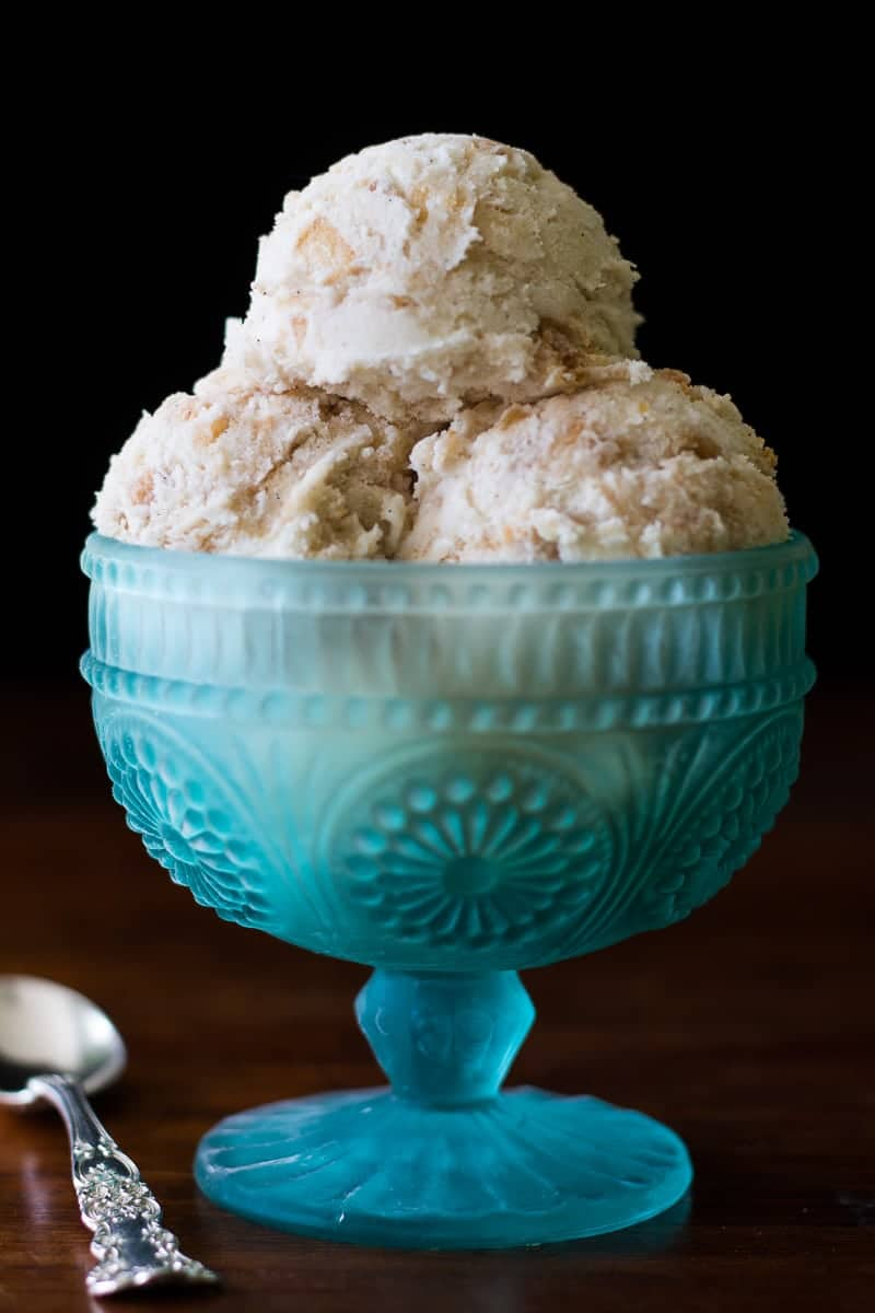Apple Pie Ice Cream - Apple pie ice cream is so much better when you make it with an actual apple pie! This simple recipe makes a perfectly delicious dessert.