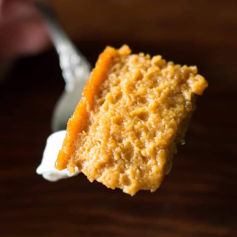 Bite of Crustless Pumpkin Pie