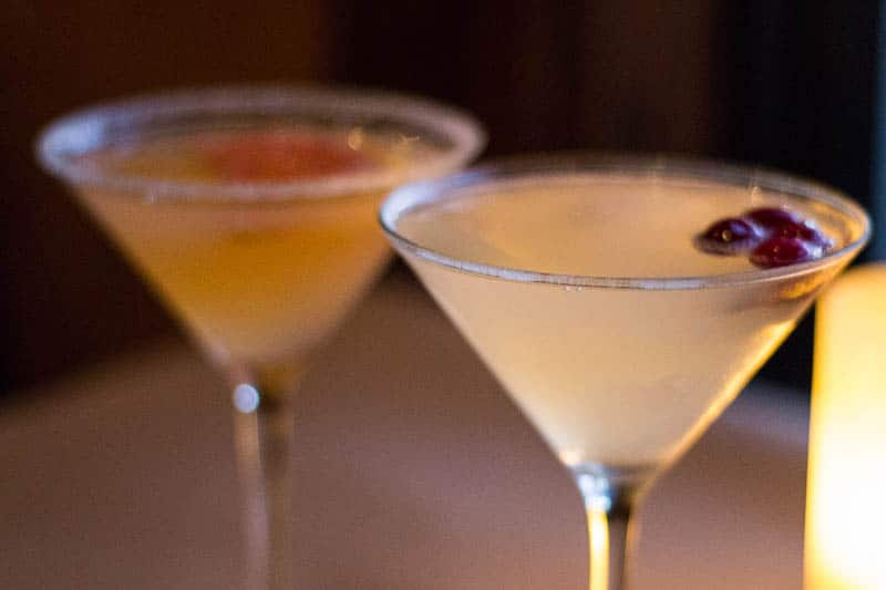 Bonefish Grill Winter White Cosmo and Grapefruit Martini