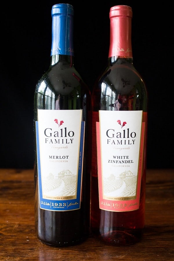 Gallo Merlot and Gall White Zinfandel