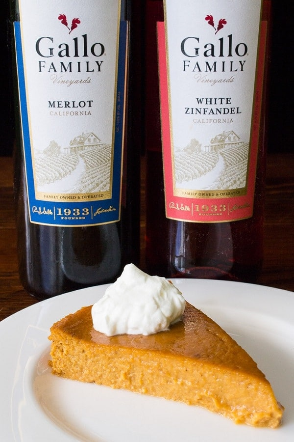 Gallo Wine and Pumpkin Pie