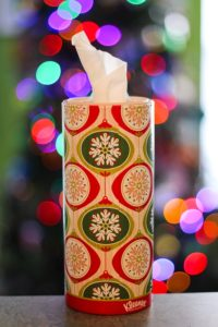 Kleenex Perfect Fit Holiday Canister