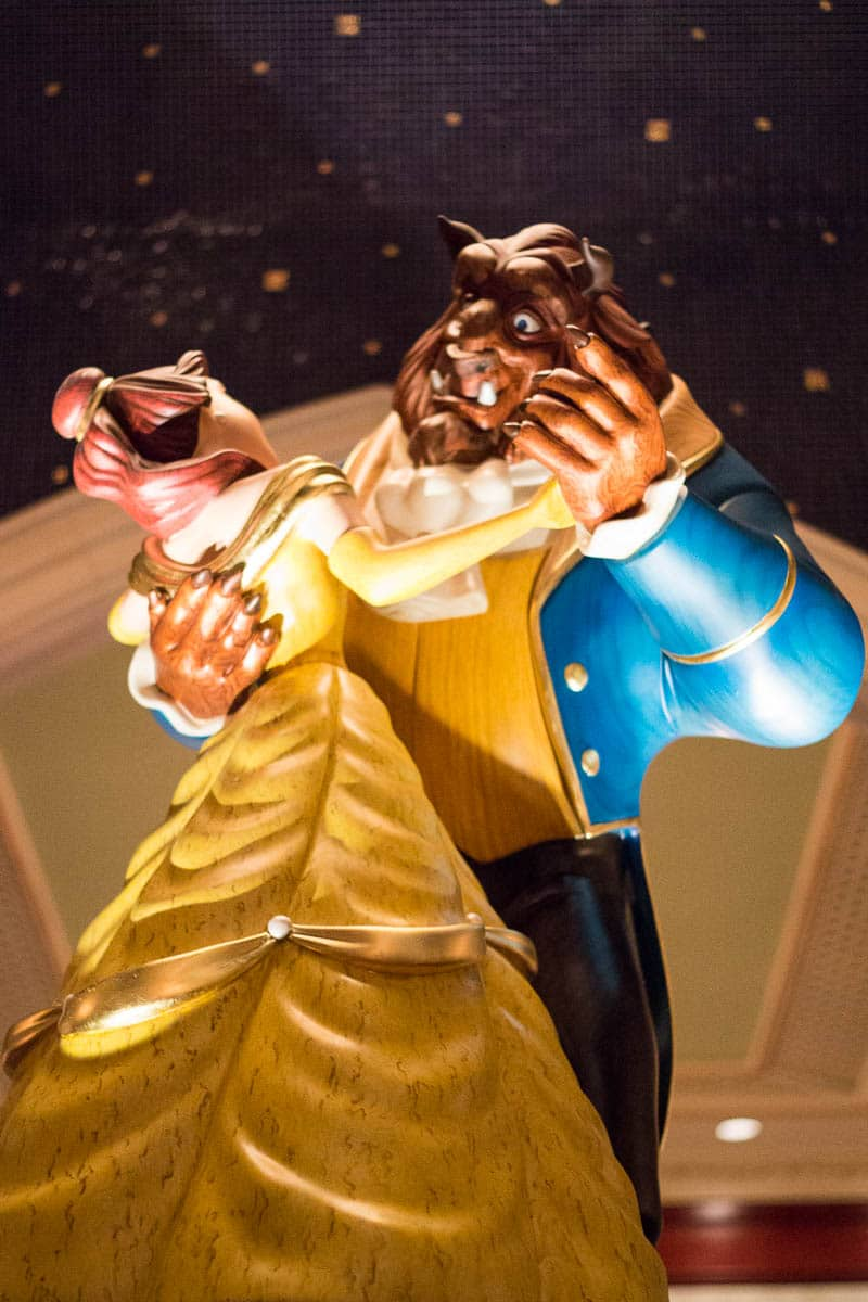 Be Our Guest Restaurant Beauty and the Beast Statue