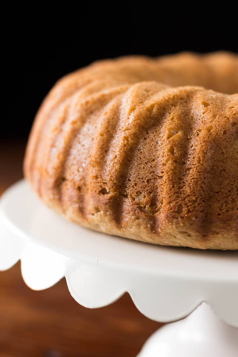 Enjoy the rich flavors of apple, peanut butter, and whole grain goodness in this breakfast bundt cake.