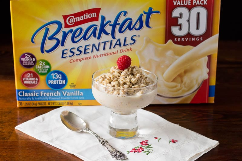 Easy Overnight Oats made with Carnation Breakfast Essentials