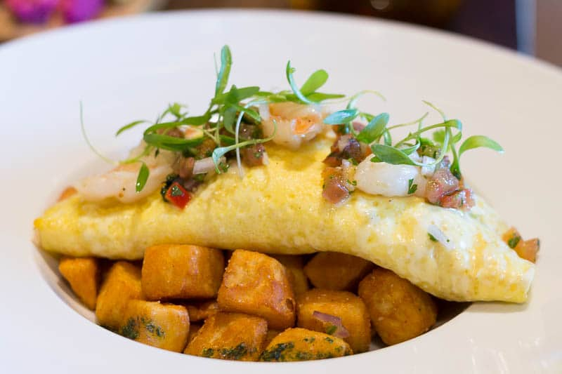 Four Seasons Orlando Plancha Brunch Shrimp Omelet