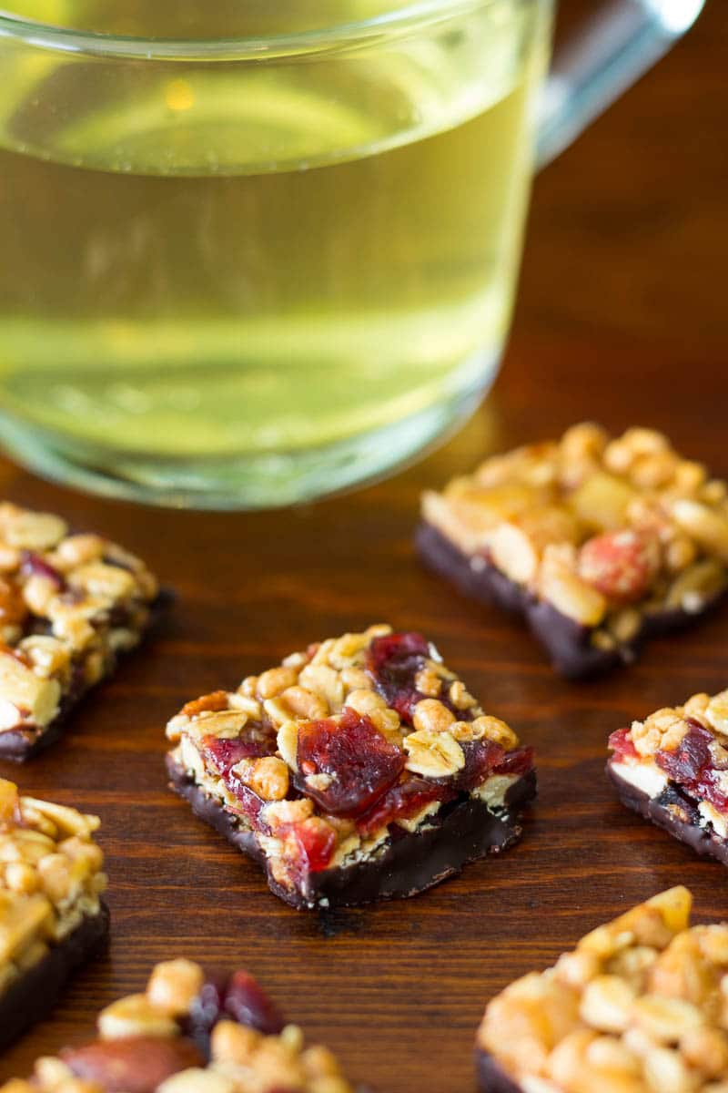 Green tea and goodnessknows snack squares
