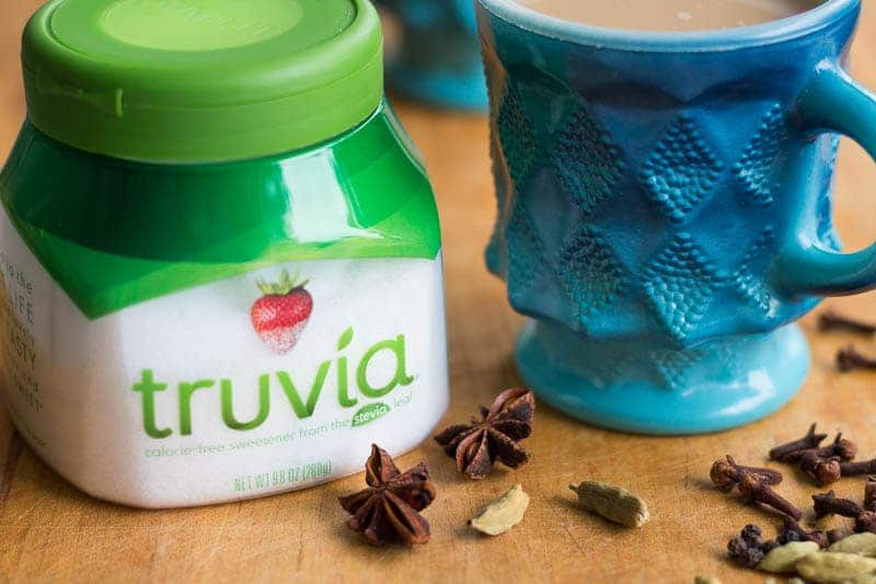 Masala Chai Recipe Mug, Spices, Truvia Sweetener