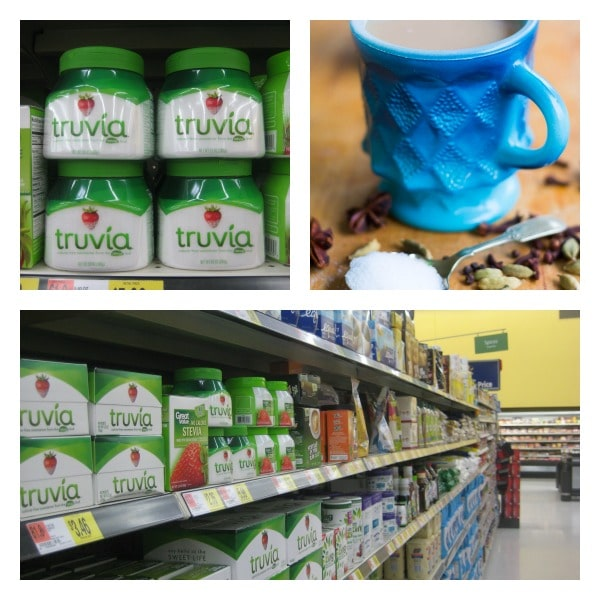 Truvia at Walmart on baking aisle