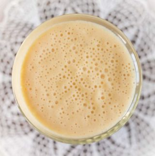 Breakfast Smoothie with refreshing flavors of Orange, Mango, Carrot, Ginseng, Honey, and Greek Yogurt