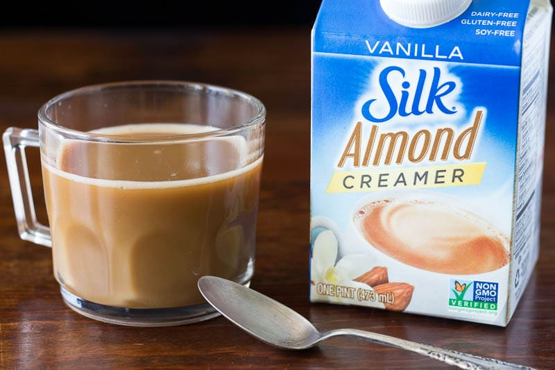 Coffee with Silk Almond Creamer