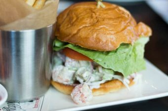 F & D Kitchen and Bar in Lake Mary serves up a rock shrimp twist on the classic lobster roll.