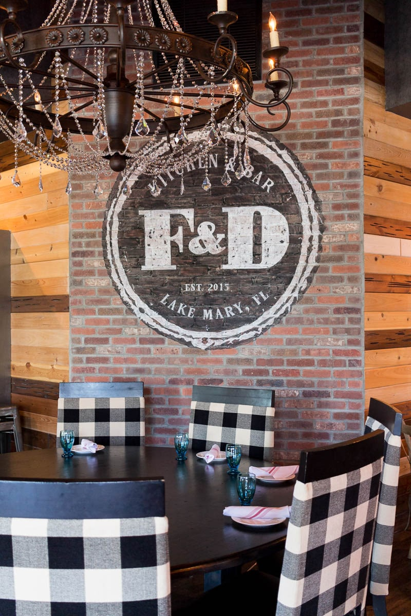 F & D Kitchen and Bar boasts local food and hand crafted drinks.