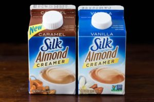 Silk Almond Creamer in Hazelnut and Vanilla
