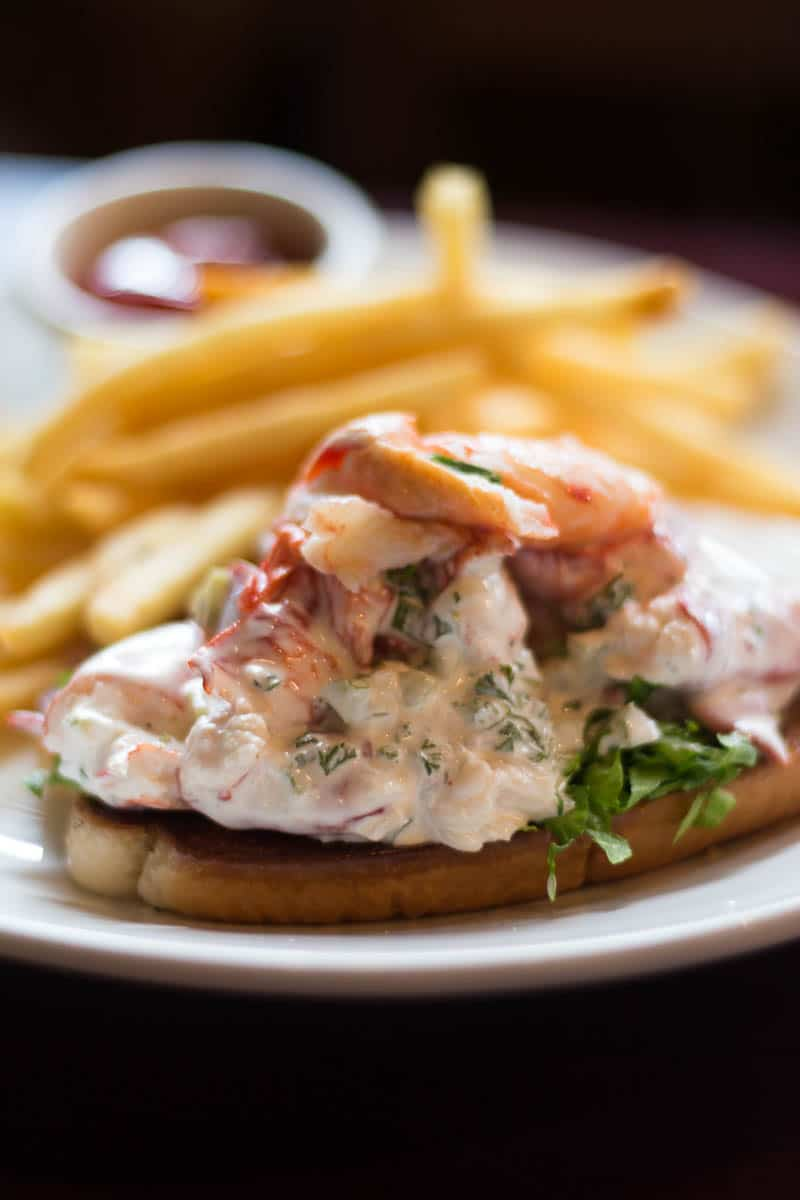 The Vineyard Wine Company has a great menu for lunch, including this delicious lobster roll piled high with lobster meat.