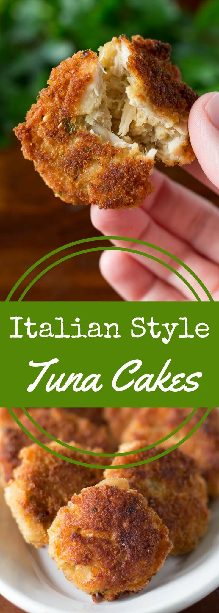 Crispy, crunchy tuna cakes made with albacore tuna are perfectly easy and made with just four ingredients!  This recipe is great for appetizers or dinner.