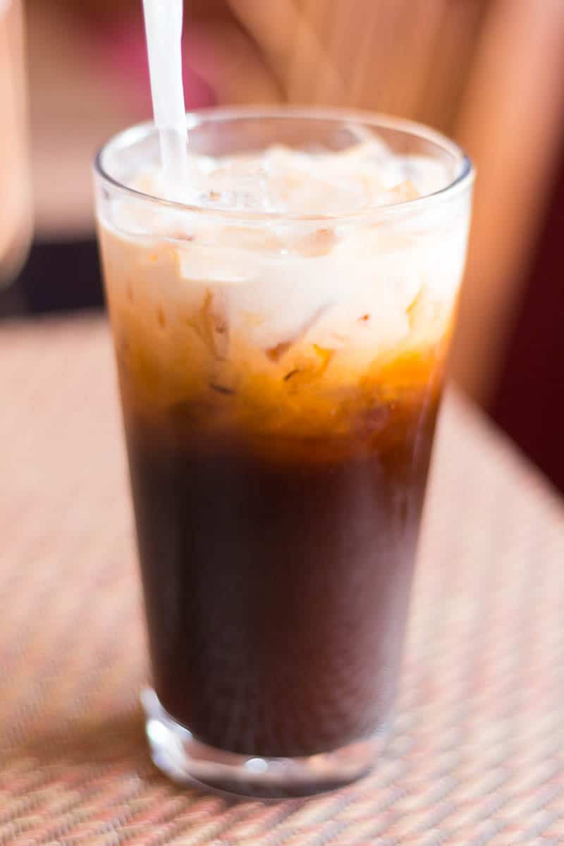 "Thai Delight, a local ""hot"" spot that lives up to its name, is located in Longwood, FL, and serves fresh and flavorful Thai food. This is their Thai Tea."