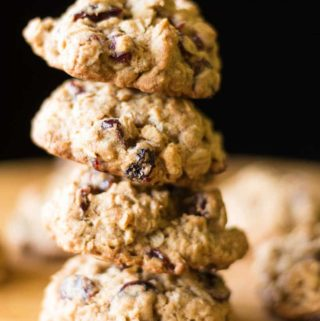 Made with oatmeal, cranberries, walnuts, and whole wheat, these healthy breakfast cookies are yummy enough for dessert but healthy enough for breakfast!
