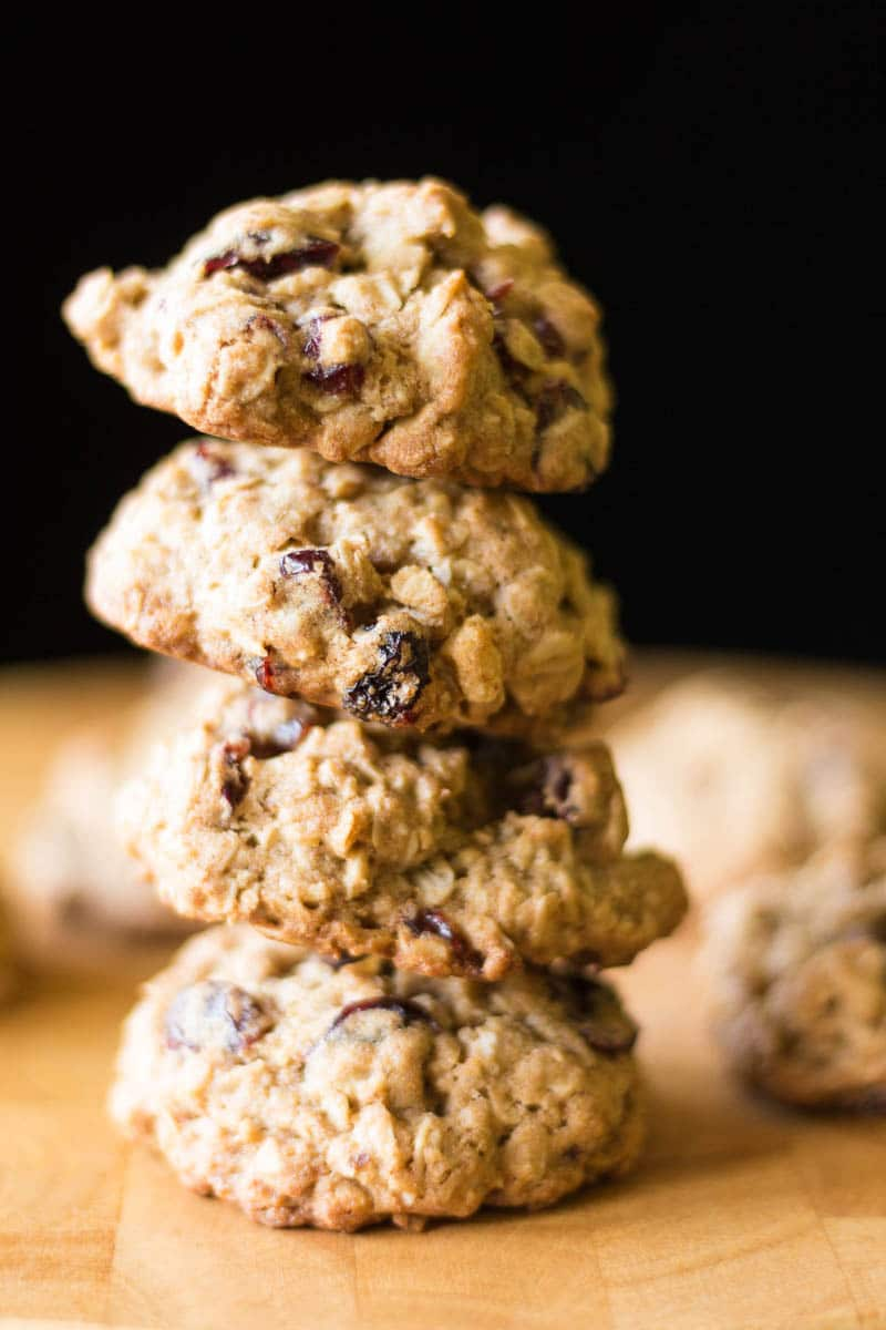 Made with oatmeal, cranberries, walnuts, and whole wheat, these healthy breakfast cookies are yummy enough for dessert!