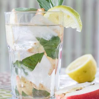 Make a simple and refreshing cinnamon water with this fruit infused cinnamon drink recipe. Apple, sage, and lemon add delicious flavor!