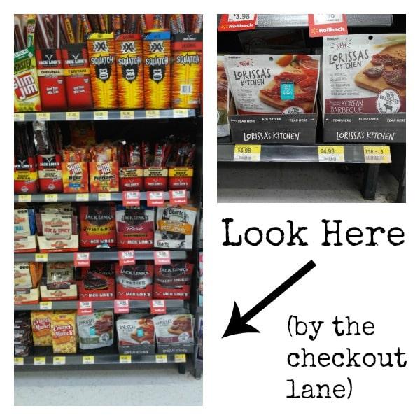 Lorissa's Kitchen at Walmart checkout