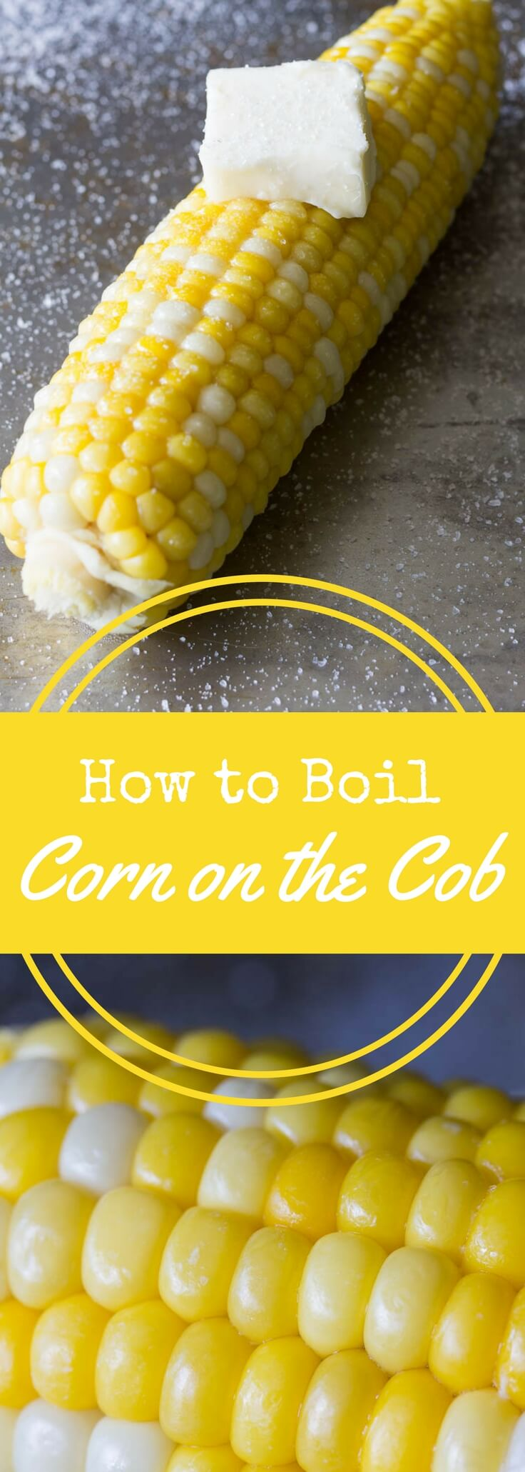 Get the exact cooking time for boiled corn on the cob.  It's foolproof and easy once you learn how to boil corn on the cob!