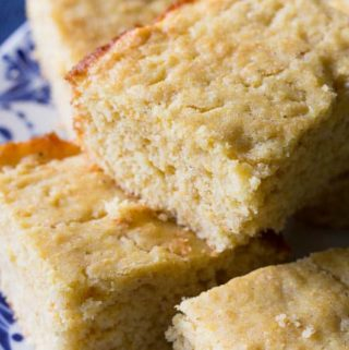 My favorite moist cornbread recipe is made from scratch and oh-so-easy! You'll love the lightly sweet flavor and the soft, moist texture.
