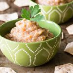Make this simple roasted eggplant dip for dipping your favorite crackers, pizza crusts, chips, and more. It's very easy to do, and it's delicious!