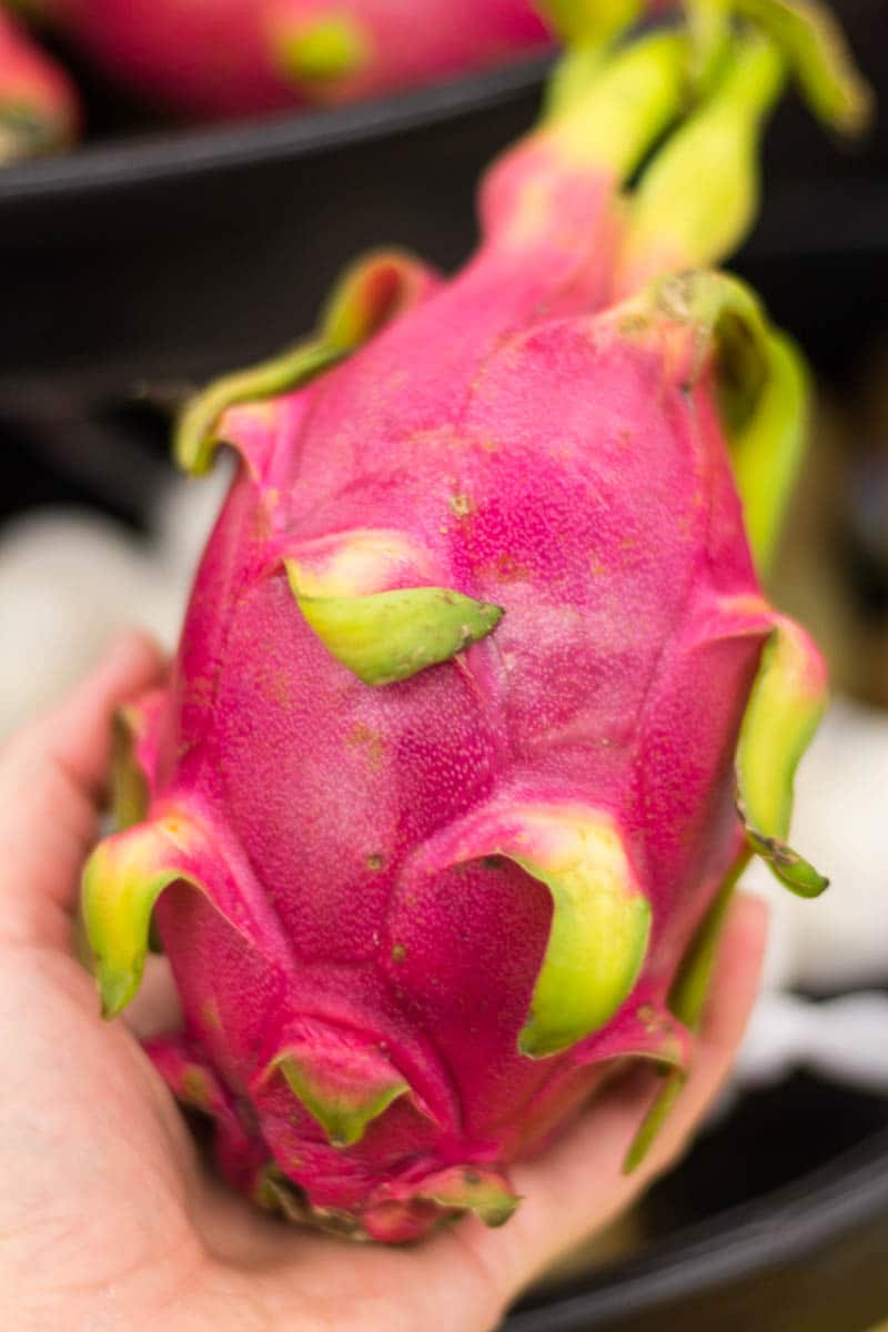 Did you know that Safeway has opened three new stores in Florida? I visited one in Altamonte Springs (near Orlando) to check out the offerings, such as this dragonfruit.