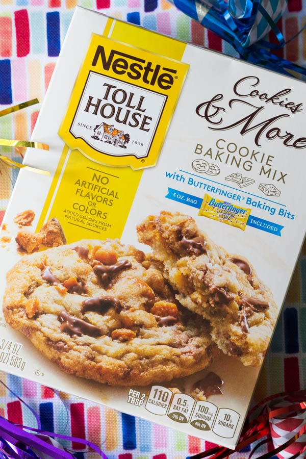 Butterfinger Cookies With Cake Mix