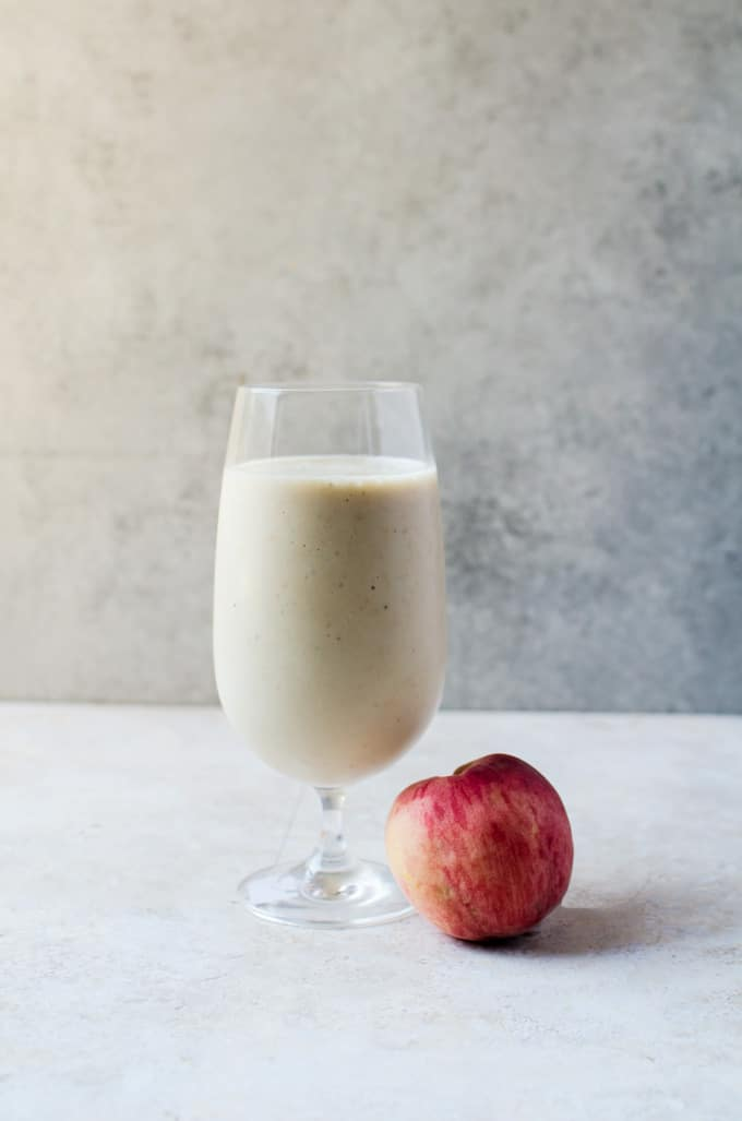 Looking for recipes with cottage cheese? These 34 cottage cheese recipes cover breakfast, smoothies, dips, breads, sides, dinner, and dessert, including this roasted peach smoothie.
