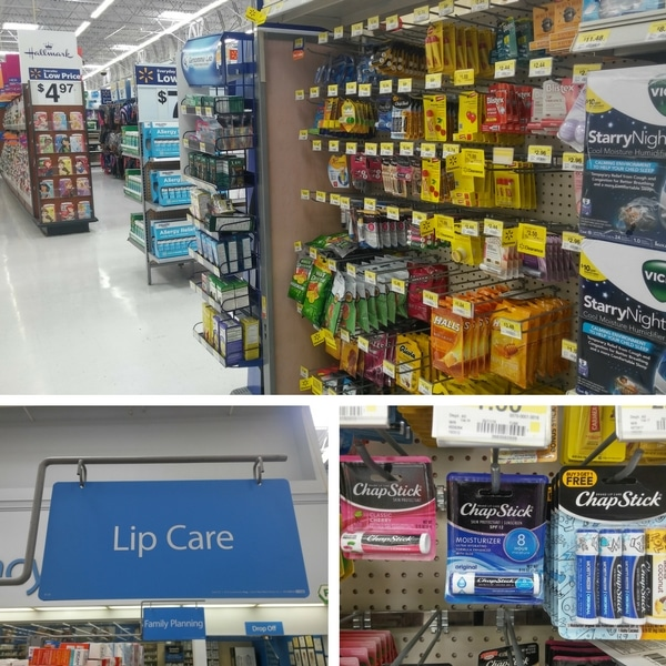 Chapstick at Walmart